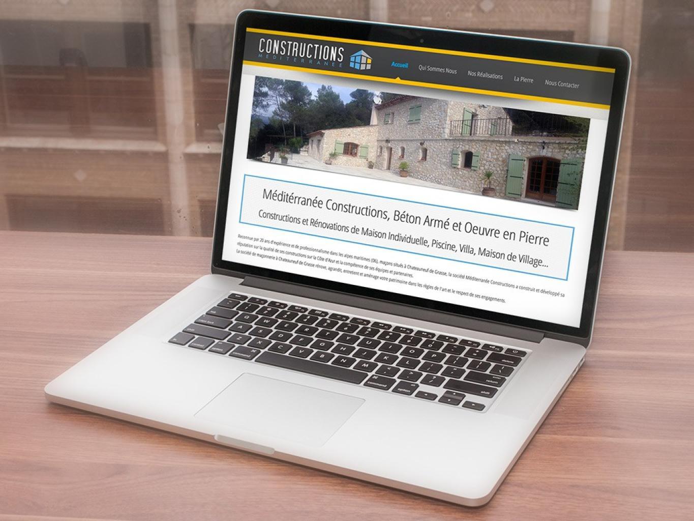 Création du Site Internet Méditerranée Construction Grasse Chateauneuf de  Grasse 4ef2f70a918c